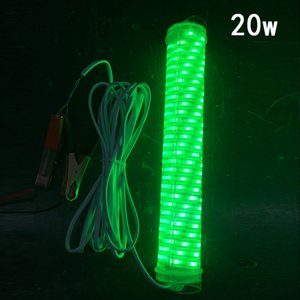 wholesale 12V LED Fishing Lures Underwater Submersible Fishing Light Waterproof For Night Light Artificial Baits 2 Colors