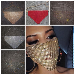 Máscaras de la danza partido de la cara medio atractivo elegante máscara de las mujeres del diamante del partido Hallowma Mascarilla facial de lujo Verano Accesorios YP759