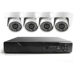 Toptan 4CH Tam AHD DVR Kiti Nightvision Security 480TVL Dome Kamera Gözetim Video Sistemi DIY CCTV Kamera Sistemi