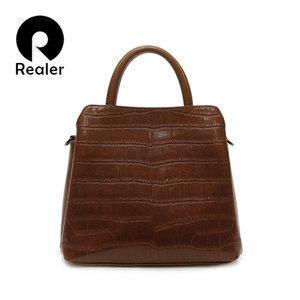 Realer bolsas de couro mulheres sacos 2020 Moda bolsa de couro Qualidade Bolsas Bandoleira Para Mulheres Mensageiro