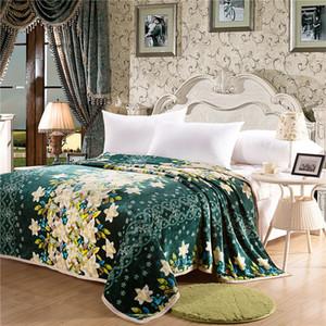 Pastoral Decke Coral Fleece Blanket Wirft auf Sofa / Bett / Flugzeug Reisen Plaids Begrenzte Battaniye Big Size 230cmx200cm Heimtextilien