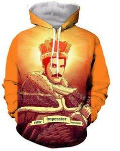 Freddie Mercury-The Queen Band 3D печатные пуловеры толстовки / толстовки с капюшоном для женщин / мужчин