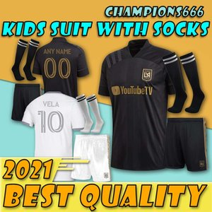 crianças menino kit 2020 2021 Los Angeles fc LAFC Futebol 20 21 MLS Zimmerman GABER ROSSI Ciman VELA CUSTOM camisas de futebol