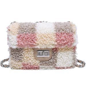 Borse Ogni giorno Piccole Donne Moda pelliccia borsa Messenger cc della catena della mano iVog nuovo arrivo per le donne 2019
