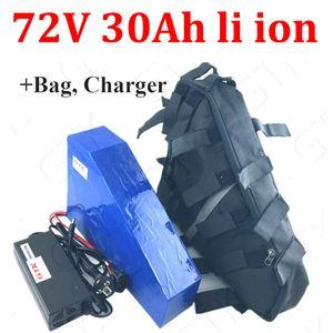 bateria de 72V 30Ah lítio ião Triangle não 72V 25AH li ião BMS para 5000w 3500W Motorcyle scooter de bicicleta saco 5A Carregador