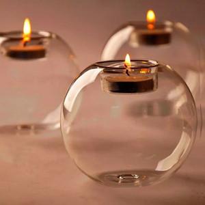 Cam Kasırga Mumluk 8 cm Kristal Top Düğün Bar Parti Sevgililer Günü Ev Dekorasyonu Noel Dekorasyon Şamdan