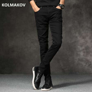 Spring New men Jeans Black Classic Fashion Denim Skinny Jeans men's casual High Quality Slim Fit Trousers