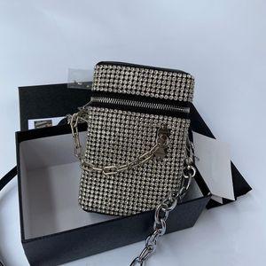 Модный алмаз сумка новой моды чистых красной перекладины мешок женщины универсальных модули одно плеча мешок мобильного телефона