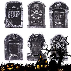Halloween Foam Tombstone Decoração Haunted House RIP Pedra Props Partido Grisly Decor esqueleto Tombstone Quintal Decoração
