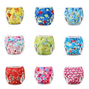 Hot Summer Print Swim Beach equipment Water Sports Diaper Nappy Pants Reusable Adjustable Infant Baby Boy Toddler
