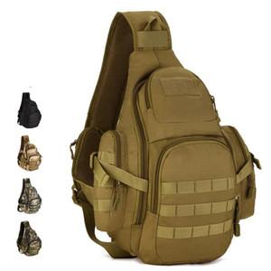 Hombres 20-35L Tactical Sling Bag Hombro impermeable Bolsa deportiva Táctico senderismo Mochilas que acampan al aire libre solo paquete de pecho de la correa
