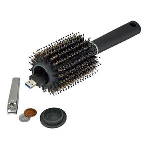 الجوف فرشاة مشط الشعر الأسود أخف الآمن تحويل سر الأمن الشعر مشط مخفي الأشياء الثمينة البلاستيك الأمن الرئيسية تخزين مربع VT0443