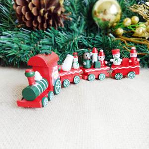 Mignon de Noël en bois Petit Train du Père Noël Navidad Natal Trains Ornement Décor Enfants Cadeau pour Ornement