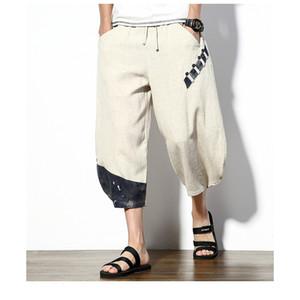 FAVOCENT sinisation magasin style chinois coton sarouel Hommes 2020 Mode d'été Hommes Pantalons Pantalons simple cheville longueur 5XL
