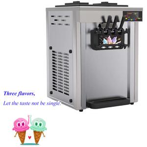 풍미 소프트 아이스크림 기계 1850W 상업 아이스크림 메이커 15-20L / h 공기 냉각 스테인레스 스틸 요구르트 기계
