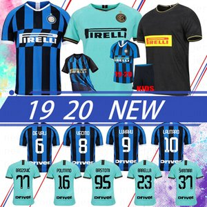 Tay ALEXIS Lukaku Lautaro SKRINIAR Inter 2020 Milan futbol forması Calcio GODIN Barella formaları futbol üst gömlek Custom Made Erkekler Çocuk