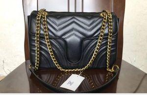 Vente chaude sacs à main mode Vintage Femmes Sacs à main Portefeuilles pour femmes chaîne en cuir Sac à bandoulière et sacs à bandoulière # 78901