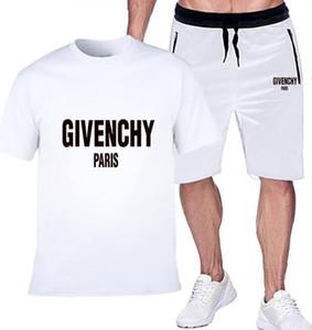 2020 Yeni Gelenler Yaz Erkek kısa kollu t-shirt ve şort rahat hoodies spor takım elbise spor erkek Yuvarlak boyun Sport001 set eşofman