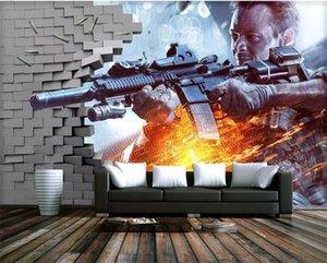 Eigene Spiele 3D-Fototapete Mural City Building Wandmalerei Wallpaper für Wohnzimmer Schlafzimmer TV Hintergrund Dekor