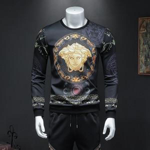 Мужская одежда 2019 Man футболки с длинным рукавом Голова Длинные рукава куртки Красивая печать SweaterFH