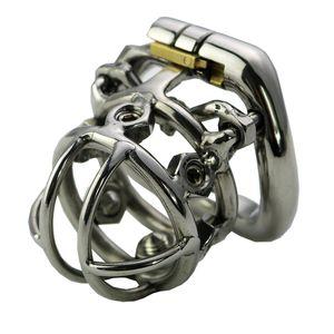 Мужские устройства Chastity Blocking Spikes Condage Steel Cup Cage Cage Cage Penis для мужчины из нержавеющей целовой целомудрии Penis RSDQQ