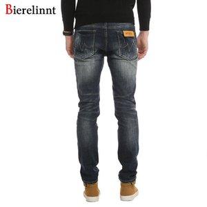 Badanalı taş Denim Uzun Pantolon Erkekler Jeans, Sonbahar Kış 2018 Moda Günlük Pamuk Jeans Men İyi Kalite Yeni Fermuar Fly Düzenli