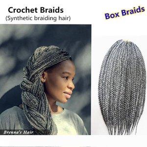 Джанет Collection бесплатная доставка 3S Box Braid волос 12 дюймов 22strands крючком волос Kanekalon Synthetic Braiding Наращивание волос 100г шт