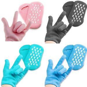 Reutilizables SPA gel hidratante Calcetines Guantes tratamiento de blanqueamiento exfoliante Smooth belleza de la mano Cuidado pies de la máscara de silicona guante del calcetín M2021
