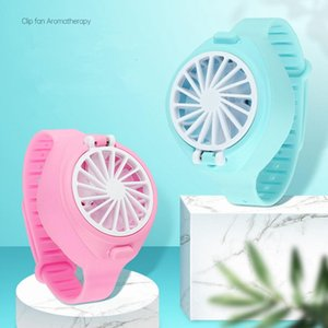 Mini watch Fan pocket Classroom office cute mini fan portable USB rechargeable Hot summer electric fan Kids gift party favor LJJA4059