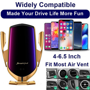 Car Qi Wireless Charger For Iphone 8 Plus X XS XR Samsung S10 S9 Automatic Air Vent Holder Fast Wireless Phone Charger