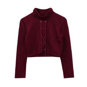 Warm Europa und Amerika-Art-Pullover Hairy Rollkragen Strickpullover Frauen Basic Langarm Short Crop Outwear Mantel Schlank Top
