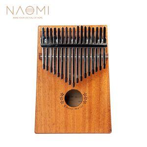 NAOMI 17 Tasti Kalimba Thumb Piano Thumb Finger Piano 17 Keys Sapele Legno Strumento Musicale Nuovo