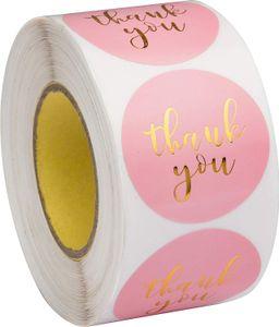 Etichetta Pink Paper Adesivi Foil Grazie Adesivi Scrapbooking 1 '' 500pcs Wedding Envelope Seals mano cancelleria Sticker