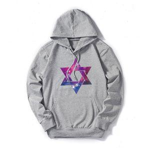 Forma-Mens Designer Hoodies Fina Moda hexagonais Estrelas impressos Hoodie Mens camisola 2019 roupas de grife de luxo Plus Size