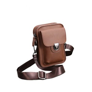 Pu Leather Shoulder Bag Men Mini Small Bags Brown 2020 Fashion Cross Body Bags Cell Phones Messenger Sling Bag Zipper Waterproof