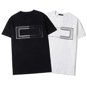 Luxe Noir Blanc Hommes Designer T-shirt Lettre Imprimer col rond manches courtes T-Shirt Mode Hommes Femmes T-shirts de haute qualité