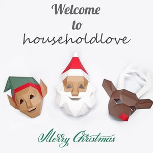 Christmas Gift Face Mask Elf Peter Pan Santa Reindeer Decoration Child Couple Dance Conversation Party Supplies Decoration Supplies