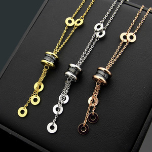 Мода роскошь 2019 новый бренд ожерелье высокого качества черное белое керамическая кисточка ожерелье женщина шарма любовник ожерелье