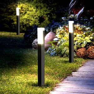 في القطب قضيب بولارد ضوء عمود آخر مصباح led الحديثة للماء في الحديقة حديقة ضوء مصابيح ac 85-265 فولت ل فناء المشهد