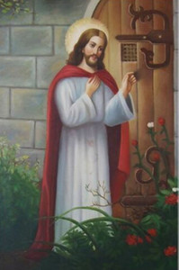 Jésus-Christ énorme Peinture à l'huile sur toile Portrait religieux ÉNORME décorations pour les murs Art Home Decor Grande photo pour le salon 190923