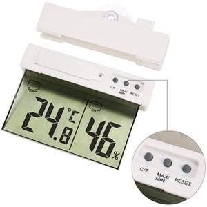 Digital Display Termometro Tetto Forma Sucker Designer Esterni Casa dell'interno creativo H208H termometro a cristalli liquidi di vendita calda HHA1032