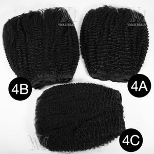 حار بيع 160G الطبيعية اللون كليب في بيرو عذراء الشعر الإنسان 4A 4B 4C الأفرو غريب مجعد كليب الوظائف شعر إمتداد