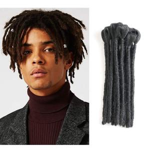 Жарко! 1Strands / пакет ручной Dreadlocks Наращивание волос Черный 6-12 дюймов моды Reggae волос для Hip-Hop Стиль Synthetic плетение волос для мужчин
