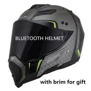 Bluetooth capacete da motocicleta 2018 falantes DOT BT motocross ouvir ligação de música ou capacete cruz estrada android