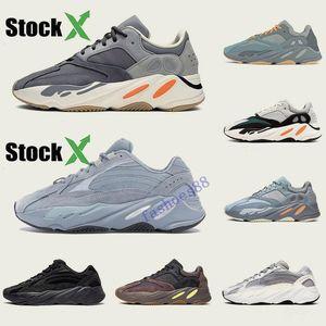 Kutusu ile Atalet 700 Dalga Runner Erkek Kadınlar Tasarımcı Sneakers Yeni hastane mavi 700 V2 Mıknatıs Tephra İyi Kalite Kanye West Spor Ayakkabı