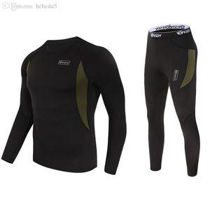 Toptan-2 adet kış termal iç çamaşırı Setleri Açık Erkek Spor Terleme Esneklik Termal İç Sporcu Giyim 3131