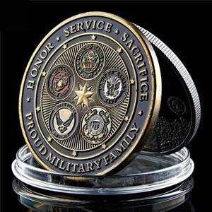Banhado a ouro do exército dos EUA Desafio Departamento de Defesa Força Exército Águia US Marine militar Badge Coin