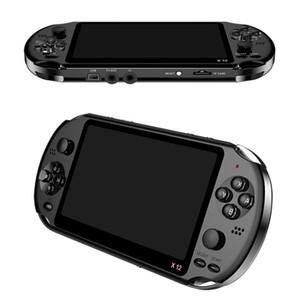 """X12 휴대용 게임 플레이어 8 기가 바이트 메모리 휴대용 비디오 게임 콘솔 5.1 """"컬러 화면 지원 TF 카드 32 기가 바이트 MP3 MP4 플레이어"""