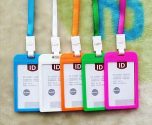 6.6cmx10.9cm titulaire de la carte de visite en plastique nouveau durable Dur dur IPX 3 porte-badge d'identification étanche avec bride