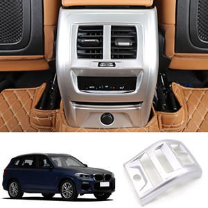 Para G01 X3 2018 de plástico ABS Interior Apoyabrazos Caja trasera Aire Acondicionado salida de ventilación del ajuste de la cubierta 1pcs Car Styling